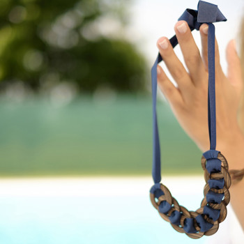 Ring&blue collana + bracciale OnlyWood round 2